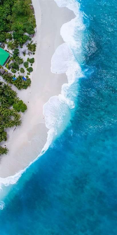 Beach Maldives Aerial Iphone Wallpapers Nature Beaches