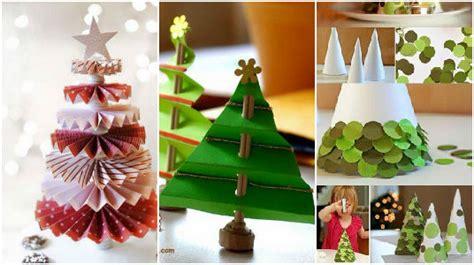 crea arboles de navidad con papel maravillosas ideas