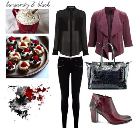 perfect fall   outfit ideas  burgundy color