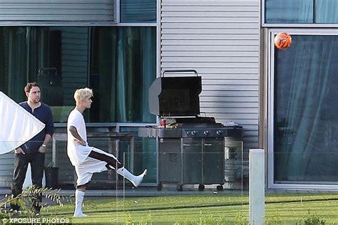 justin bieber shows   soccer skills   lavish