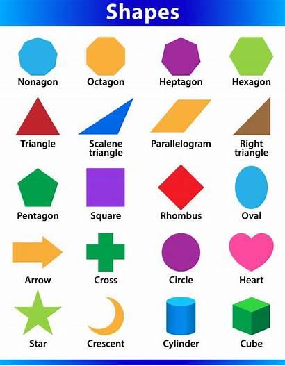 Shapes 2d English Kindergarten Geometric Learning Preschool