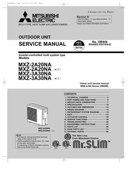 Wiring Diagram Inverter Mitsubishi by Mitsubishi Electric Mxz 3a30na Service Manual Manualzz