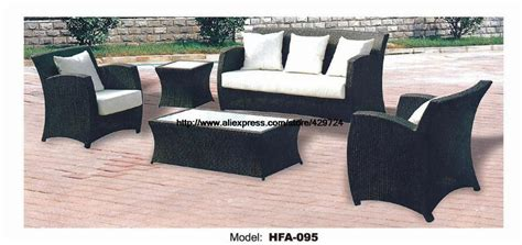 rattan chair sofa set with outdoor table vine garden