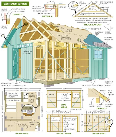 diy garden shed plan plans design  blueprints