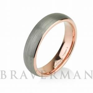 rose gold mens tungsten carbide wedding band ring 5mm 14k With tungsten carbide mens wedding ring