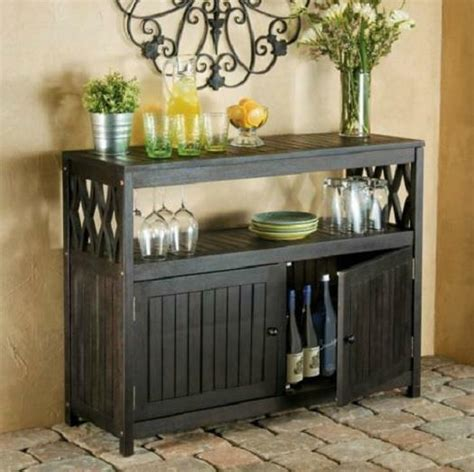 Outdoor Sideboard Console Table by Espresso Outdoor Eucalyptus Wood Sideboard Buffet Server