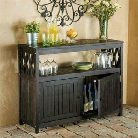 Outdoor Sideboard Table espresso outdoor eucalyptus wood sideboard buffet server