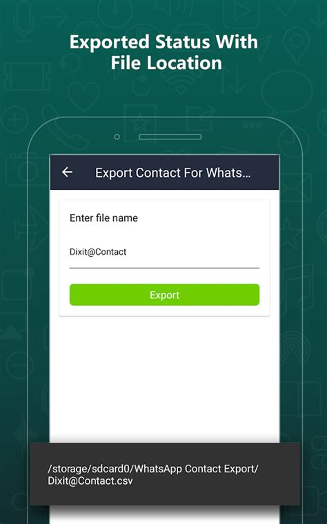 export contacts for whatsapp android apps on play