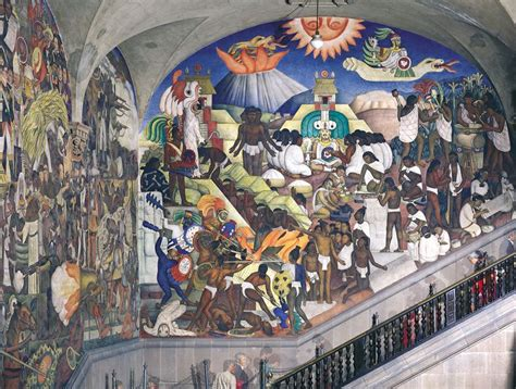 mexican modernism diego rivera ancient mexico from the history of mexico fresco murals