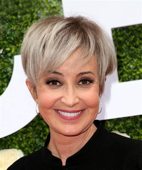 Annie Potts Short Straight Casual Pixie Hairstyle with