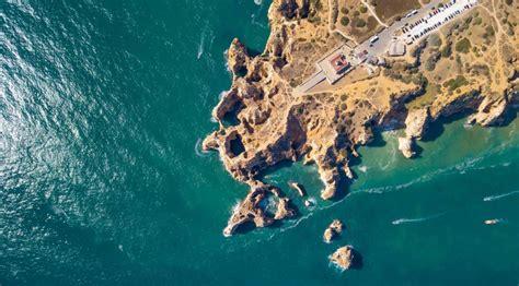 boat    grottos  rock formations  ponta da