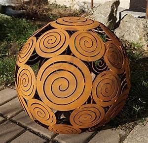 Spirale Zum Rohrreinigen : edelrost kugel spirale zum beleuchten gartendekoration d40cm f r den garten ~ Eleganceandgraceweddings.com Haus und Dekorationen