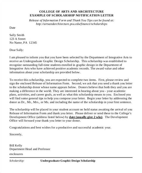 Cover Letter For A Scholarship by Scholarship Cover Letter Templates 1 Letter From