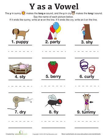 vowel vowel worksheets  grade phonics