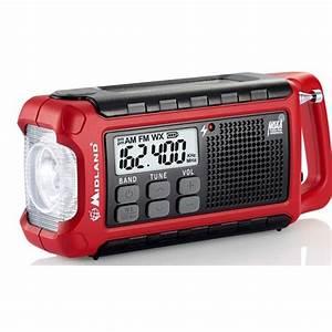 Midland Er210 Compact Emergency Hand Crank Radio W   Flashlight
