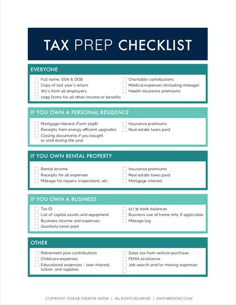 The Tax Preparation Checklist Your Accountant Wants You To Use