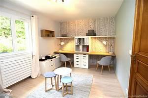 bureau chambre d39amis melissa desbriel cote maison With deco de terrasse exterieur 16 mezzanine chambre bureau design industriel cdesign