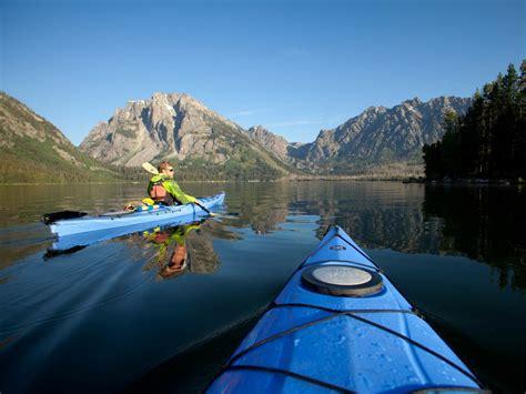 jackson lake kayaking grand teton park national hole oars
