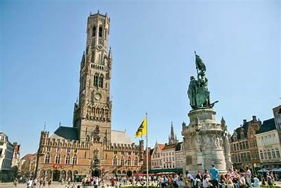 Square Market Bruges Markt Squares Belfry Town