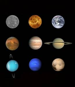 A good look at the 8 planets and Pluto. : Astronomy