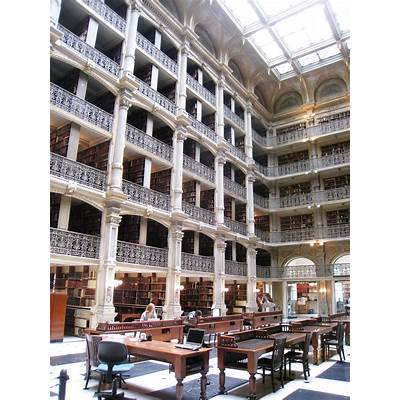 File:George Peabody Library Institute - view 1