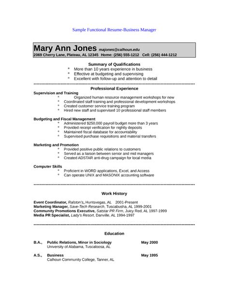 public relations sample resume functional public relations manager resume template