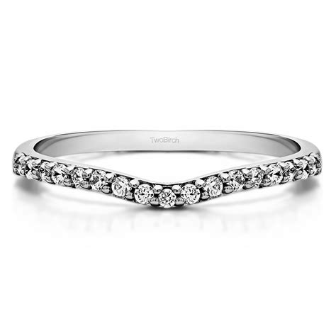 sterling silver delicate contour matching wedding ring