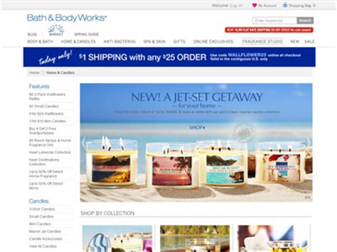 And Bath Collection Website by Bath Works Destinations Home Fragrances Candles