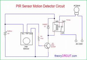 Pir Motion Detector Circuit
