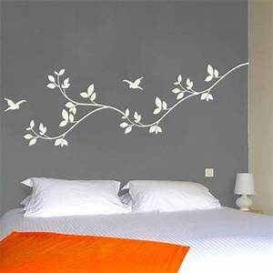 leaves wall decal nature vinyl wall graphics With white vinyl lettering for walls