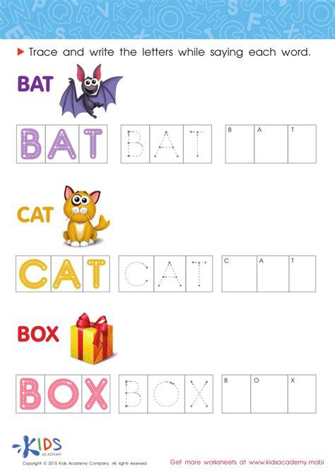 spelling worksheets for preschool and kindergarten