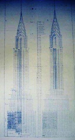 Chrysler Building Blueprint by Chrysler Building In New York Blueprint By Blueprintplace