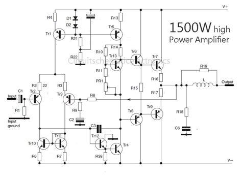 Watt High Power Amplifier Amp Circuit Diagram