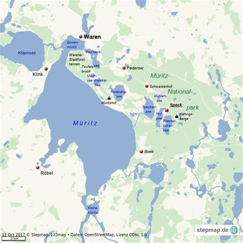 stepmap mueritz nationalpark  landkarte fuer welt