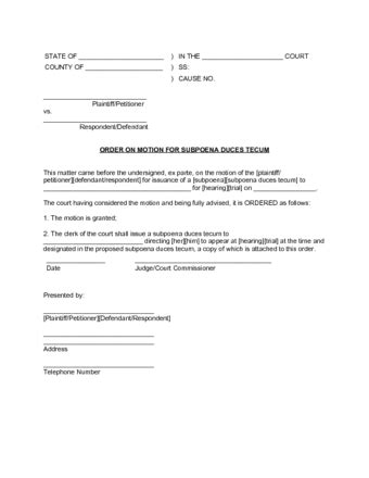 a sle subpeona form for ohio how to subpoena documents with free sle subpoenas