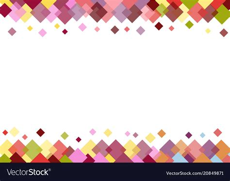 colorful border colorful border of squares on white background vector image