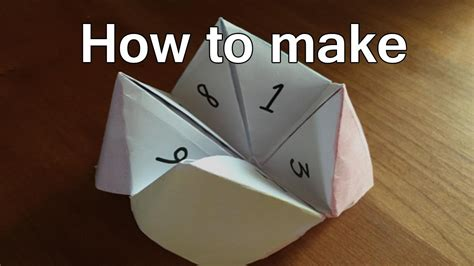 How To Make Fortune Tellers Out Of Paper  Fortune Teller