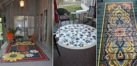 Painted Porch Rugs   Home Design, Garden & Architecture