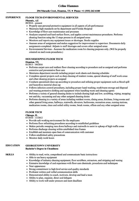 Tech Resume by Floor Technician Description For Resume Floor