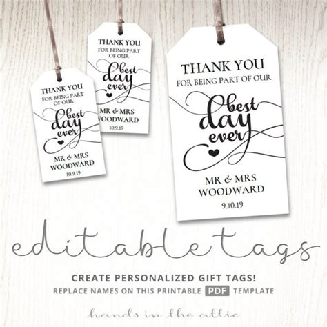 gift tags  wedding day    day