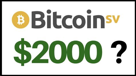 Bitcoins are divisible into smaller units known as satoshis — each satoshi is worth 0.00000001 bitcoin. Bitcoin SV Price Predictions 2020 $2000?? - YouTube