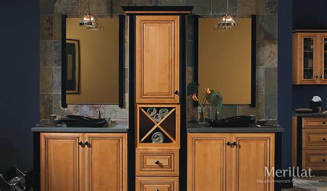 merillat bathroom cabinet sizes merillat masterpiece 174 civano in maple honey spice with