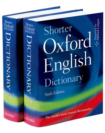dictionary for shorter oxford english dictionary oxford university press oxford university press