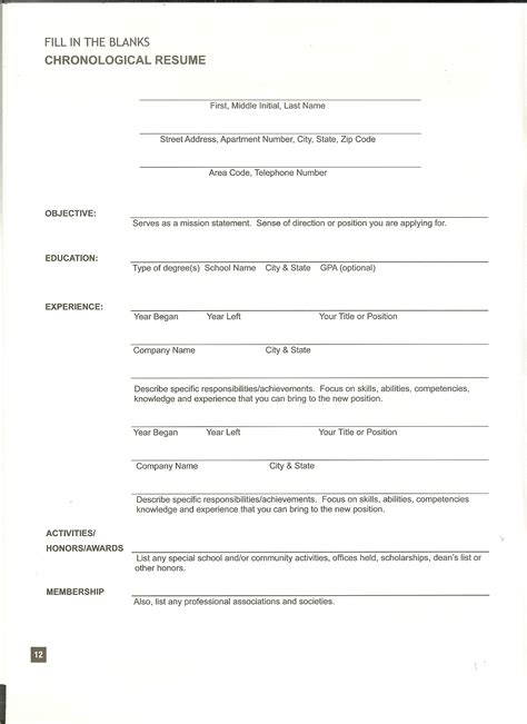 Resume Format Form Of Resume Writing