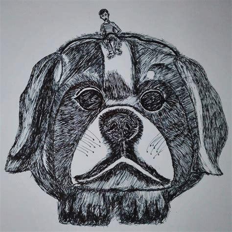 inktober inktober day gigantic dog zeichnung hund inktober art darth vader