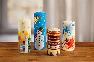 Basteln Im Januar : kerzen weihnachtlich verzieren ~ Articles-book.com Haus und Dekorationen