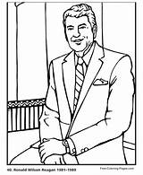 Coloring Reagan Ronald Presidents Printable President Washington Sheets Booker Colouring Facts Donald Trump Books Popular Adults Activities Getcolorings sketch template