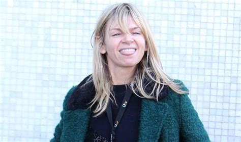 Zoe Ball pulls funny faces as she heads to the ITV studios ...
