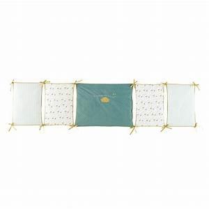 Tour De Lit Vert : tour de lit b b en coton jaune vert 45 x 180 cm gaston ~ Teatrodelosmanantiales.com Idées de Décoration