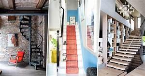 Décoration D Escalier Intérieur : d corer son escalier nos plus belles inspirations marie claire ~ Nature-et-papiers.com Idées de Décoration